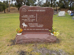 grave stone Dunsborough Lawn Memorial